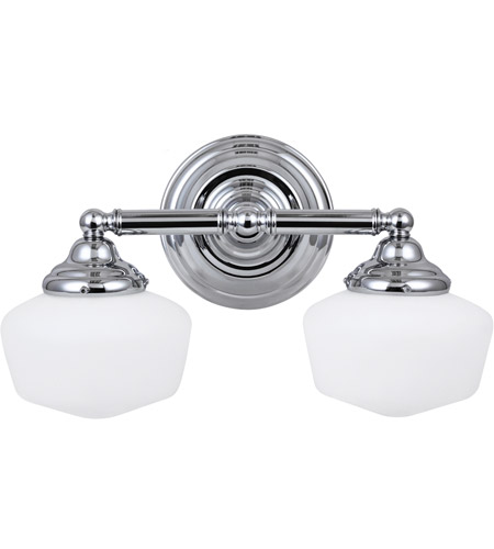 Sea Gull 44437BLE-05 Academy 2 Light 17 inch Chrome Bath Light Wall Light in Fluorescent photo
