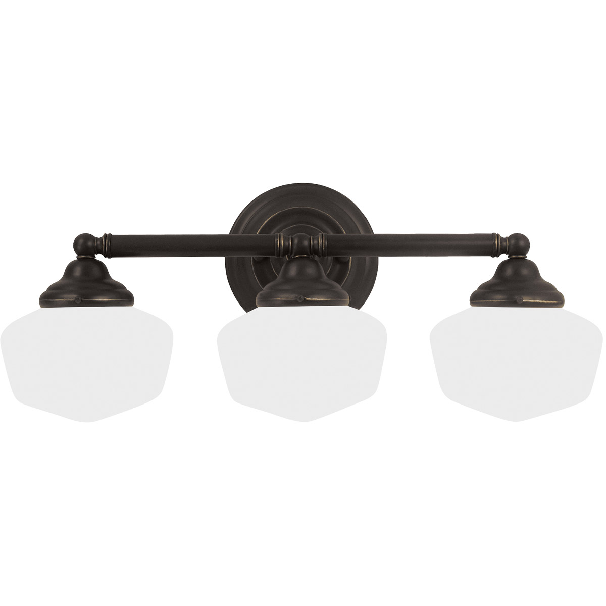 Sea Gull 44438BLE-782 Academy 3 Light 23 inch Heirloom Bronze Bath Vanity Wall Light in Fluorescent photo
