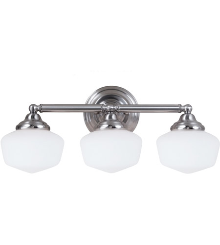 Sea Gull Academy 3 Light Bath Light in Brushed Nickel 44438-962