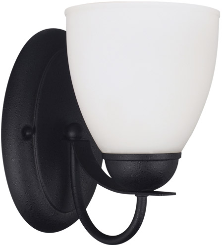 Sea Gull 44470BLE-839 Uptown 1 Light 6 inch Blacksmith Wall Sconce Wall Light in Fluorescent photo