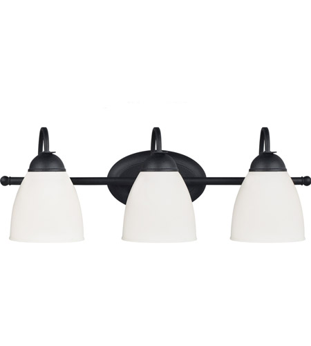 Sea Gull Uptown 3 Light Bath Light in Blacksmith 44472BLE-839