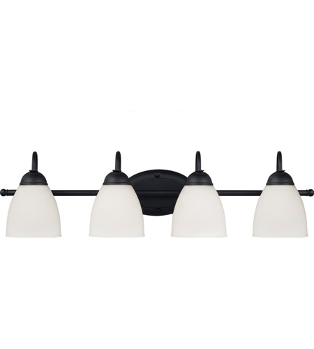 Sea Gull Uptown 4 Light Bath Light in Blacksmith 44473BLE-839