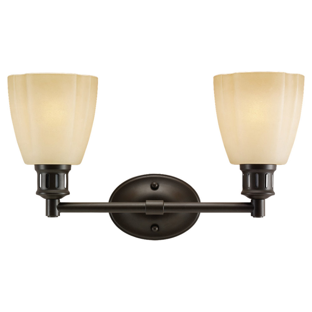 Sea Gull Lighting Century 2 Light Bath Vanity in Heirloom Bronze 44474-782
