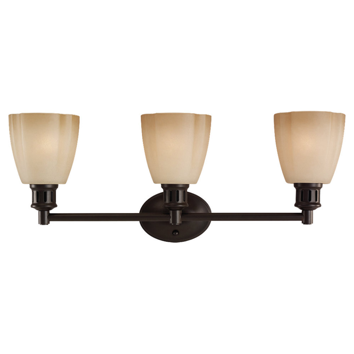Sea Gull Lighting Century 3 Light Bath Vanity in Heirloom Bronze 44475-782 photo