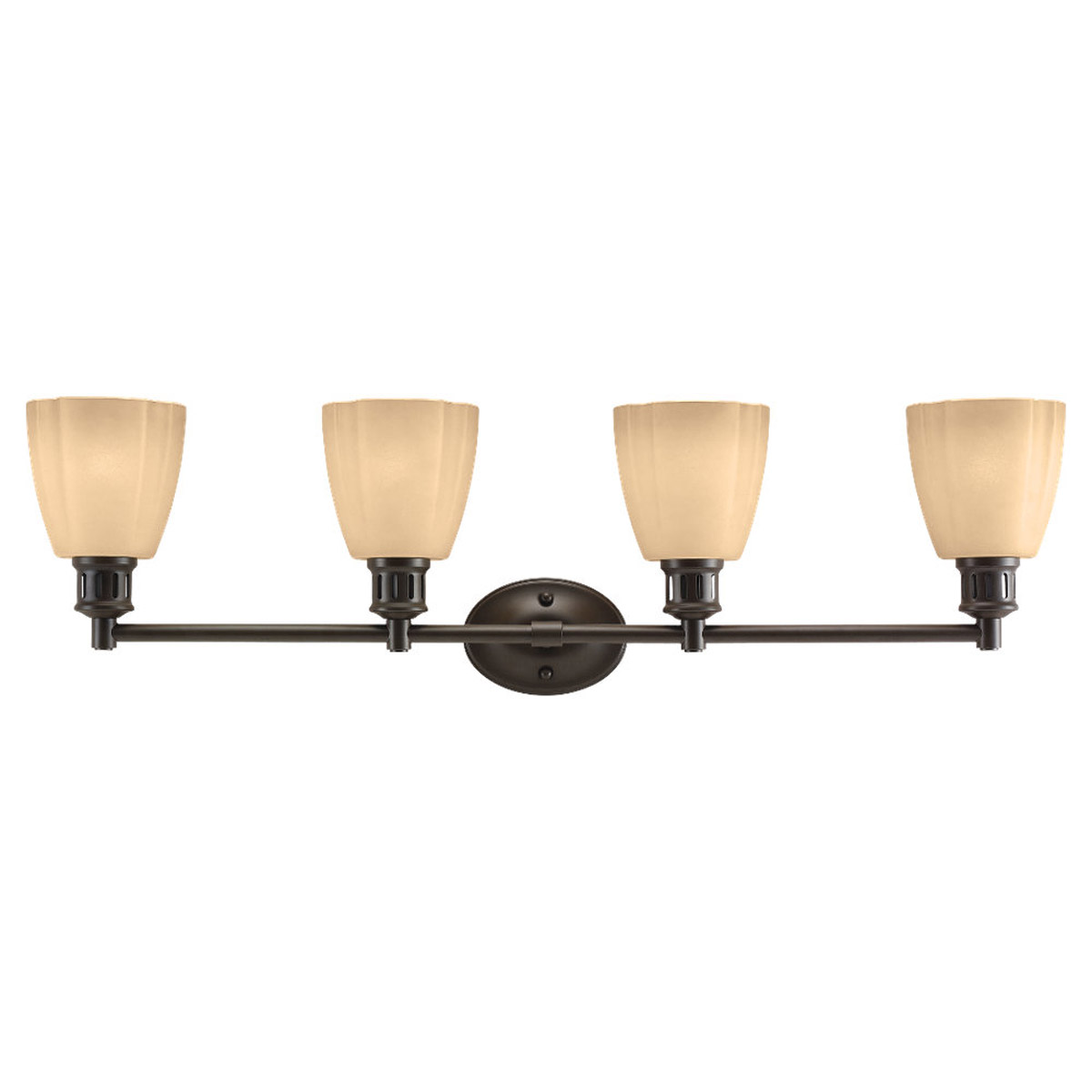 Sea Gull Lighting Century 4 Light Bath Vanity in Heirloom Bronze 44476-782