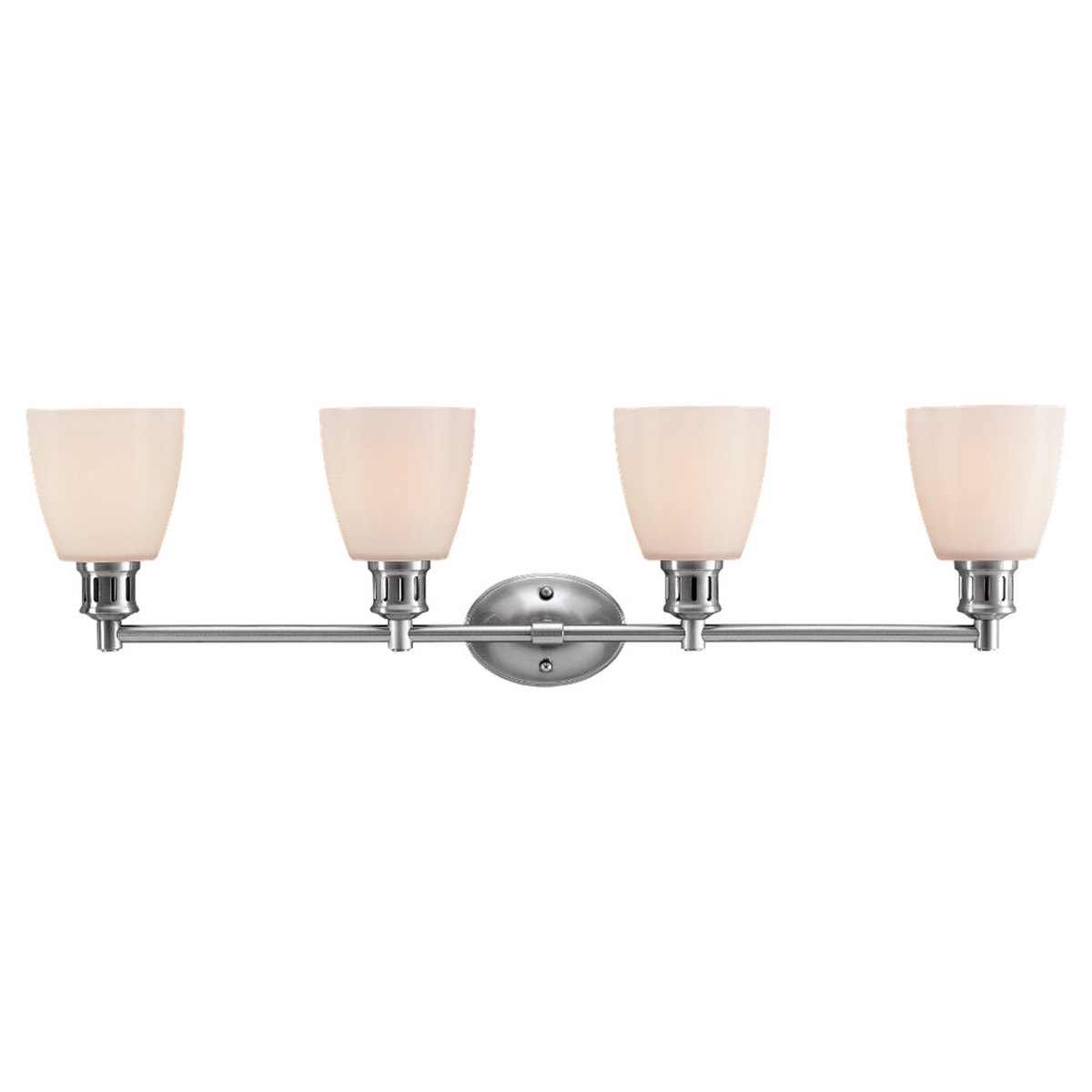 Sea Gull Lighting Century 4 Light Bath Vanity in Brushed Nickel 44476-962
