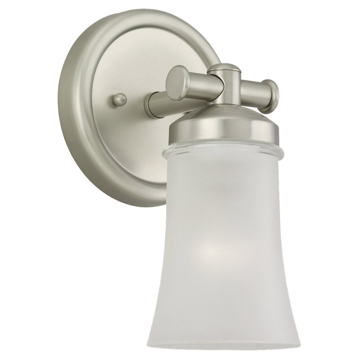 Sea Gull Lighting Newport 1 Light Wall Sconce in Antique Brushed Nickel 44482BLE-965