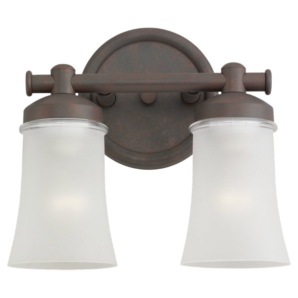 Sea Gull Lighting Newport 2 Light Fluorescent Wall/Bath/Vanity in Misted Bronze 44483BLE-814 photo