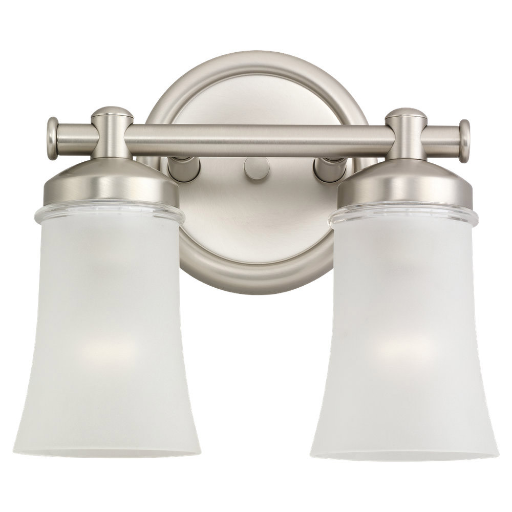 Sea Gull 44483BLE-965 Newport 2 Light 11 inch Antique Brushed Nickel Bath Vanity Wall Light in Fluorescent photo
