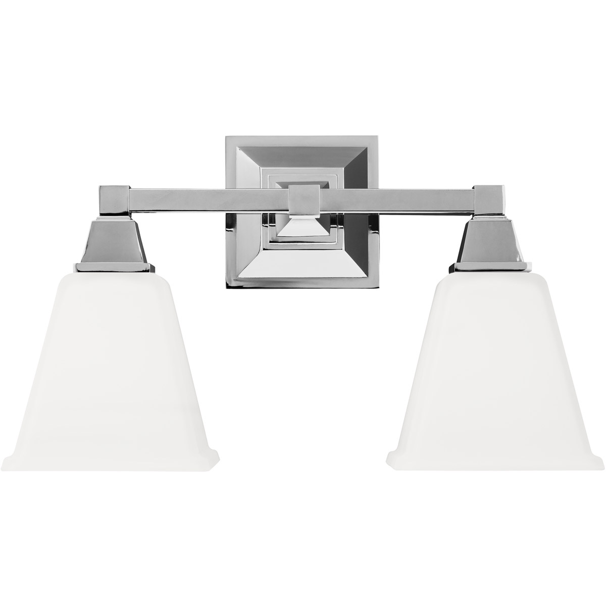 Sea Gull 4450402BLE-05 Denhelm 2 Light 17 inch Chrome Bath Vanity Wall Light in Fluorescent photo