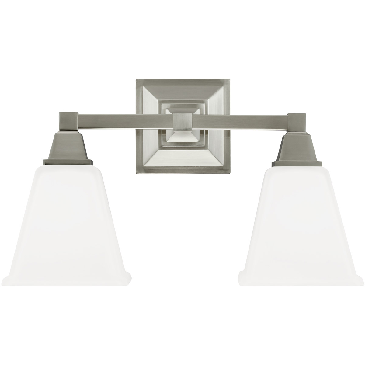 Sea Gull Denhelm 2 Light Bath Vanity in Brushed Nickel 4450402BLE-962 photo