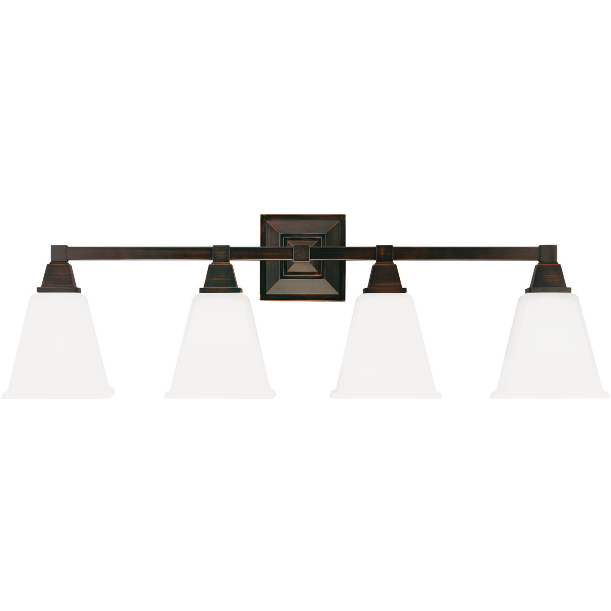 Sea Gull 4450404BLE-710 Denhelm 4 Light 32 inch Burnt Sienna Bath Vanity Wall Light in Fluorescent photo