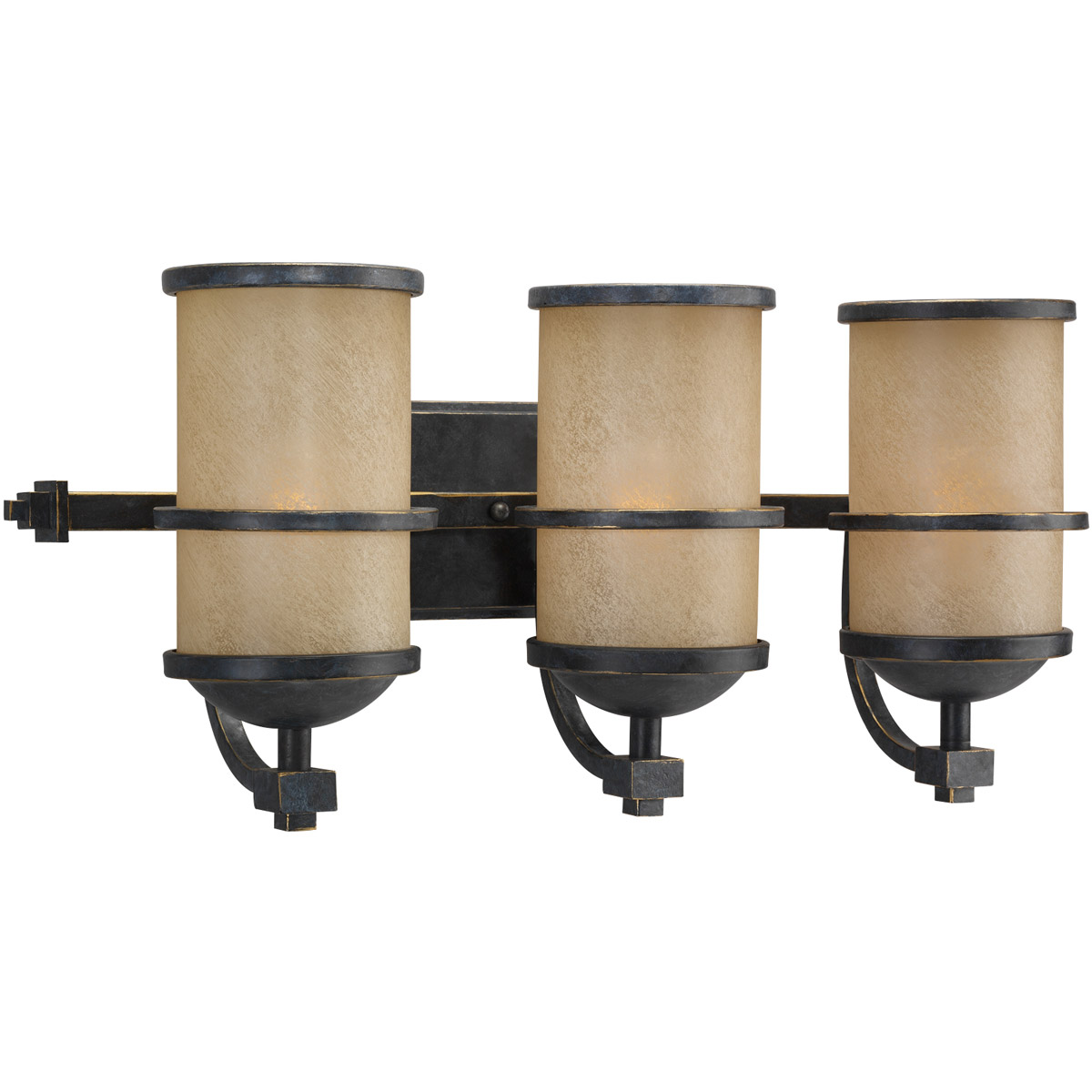 Sea Gull Lighting Roslyn 3 Light Bath Vanity in Flemish Bronze 44522-845