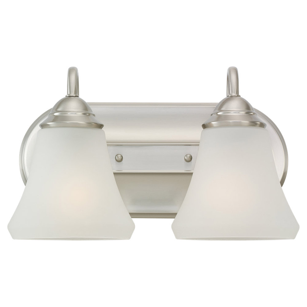 Sea Gull Lighting Fiona 2 Light Wall / Bath / Vanity in Brushed Nickel 44556-962