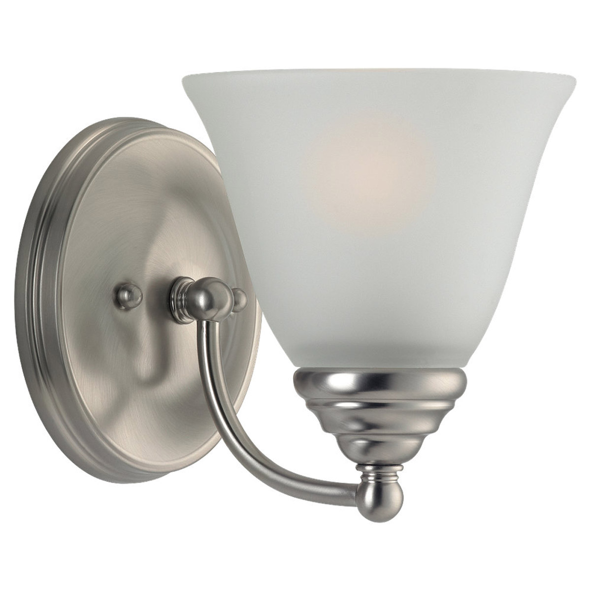 Sea Gull Lighting Albany 1 Light Bath Vanity in Brushed Nickel 44575-962