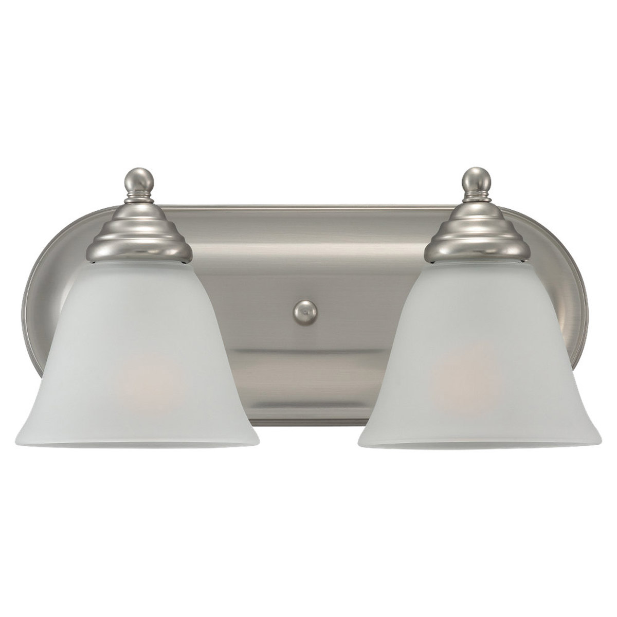 Sea Gull Lighting Albany 2 Light Bath Vanity in Brushed Nickel 44576-962
