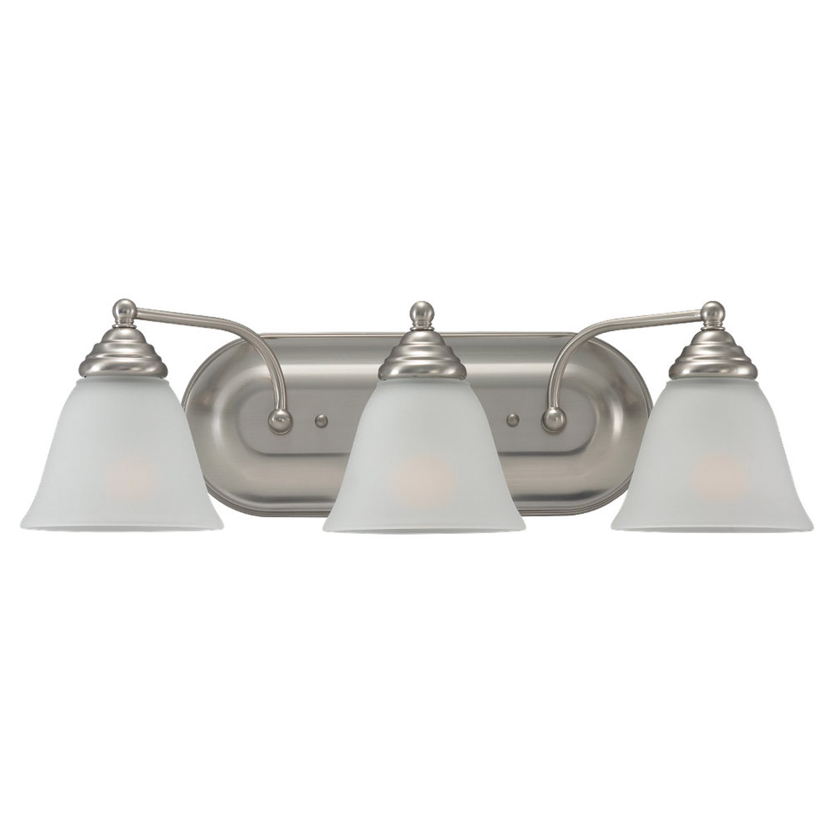 Sea Gull Lighting Albany 3 Light Bath Vanity in Brushed Nickel 44577-962