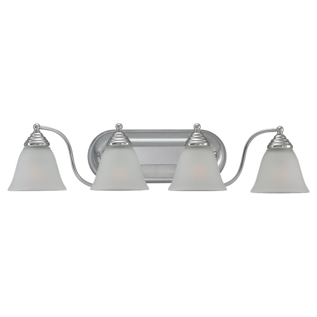 Sea Gull Lighting Albany 4 Light Wall / Bath / Vanity in Chrome 44578-05