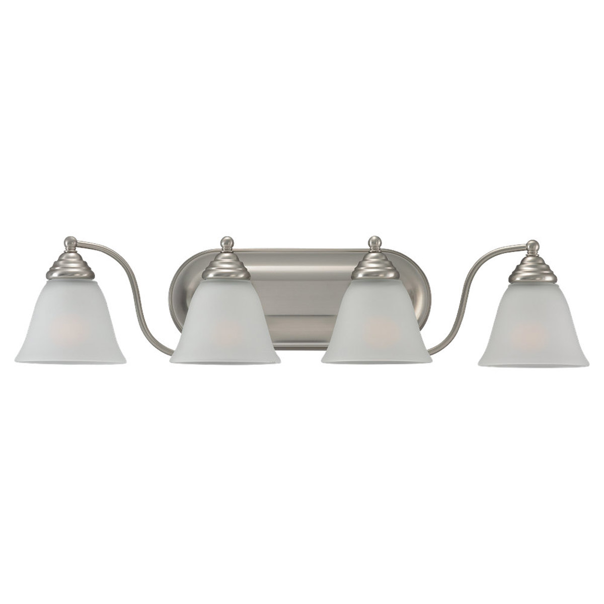 Sea Gull Lighting Albany 4 Light Bath Vanity in Brushed Nickel 44578-962