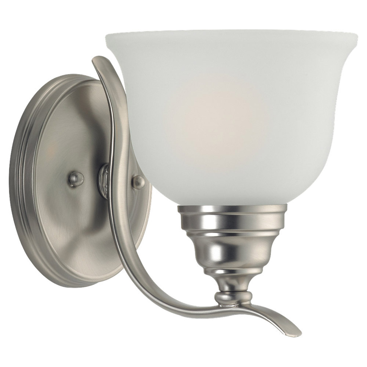 Sea Gull Lighting Wheaton 1 Light Bath Vanity in Brushed Nickel 44625BLE-962