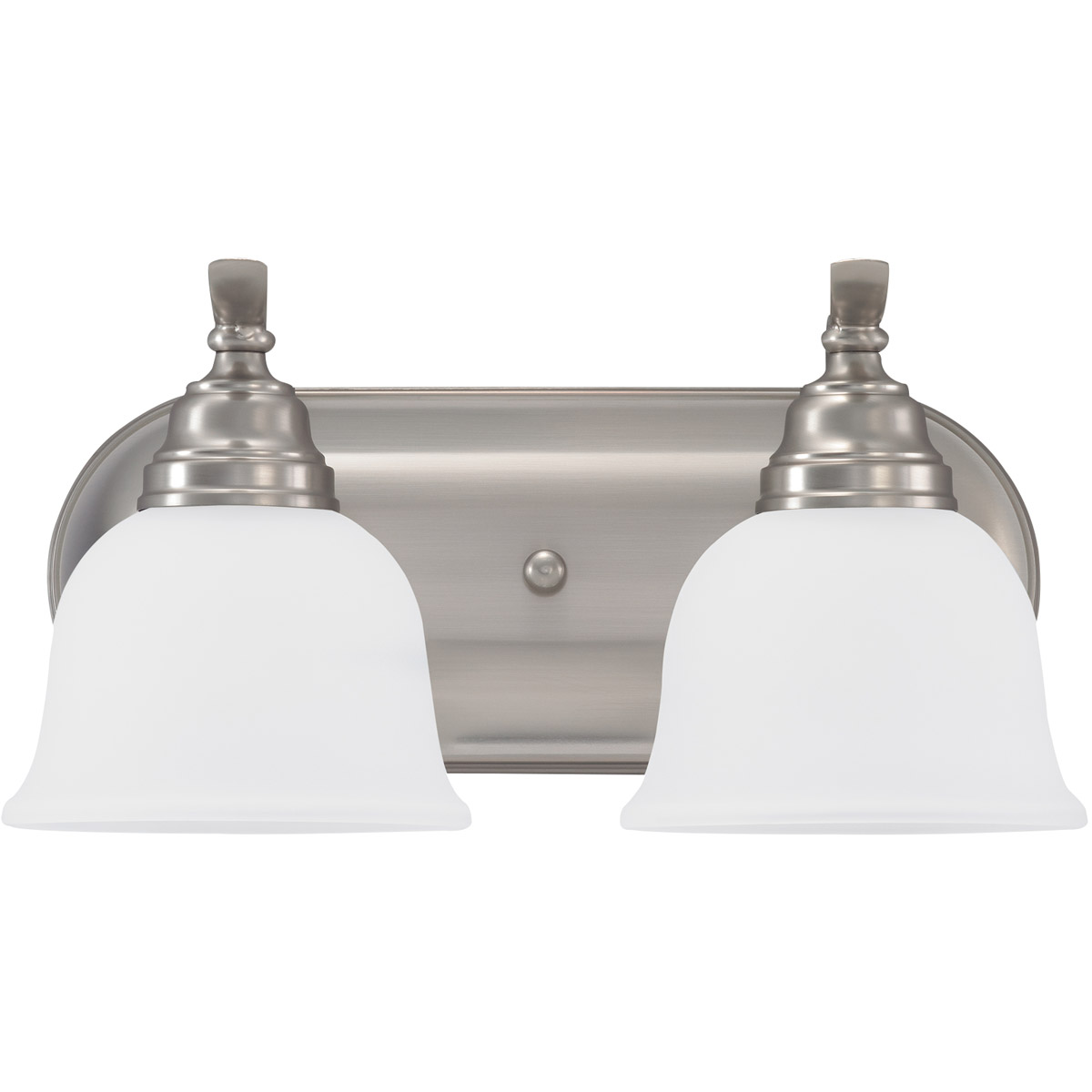 Sea Gull 44626-962 Wheaton 2 Light 15 inch Brushed Nickel Bath Vanity Wall Light in Standard photo