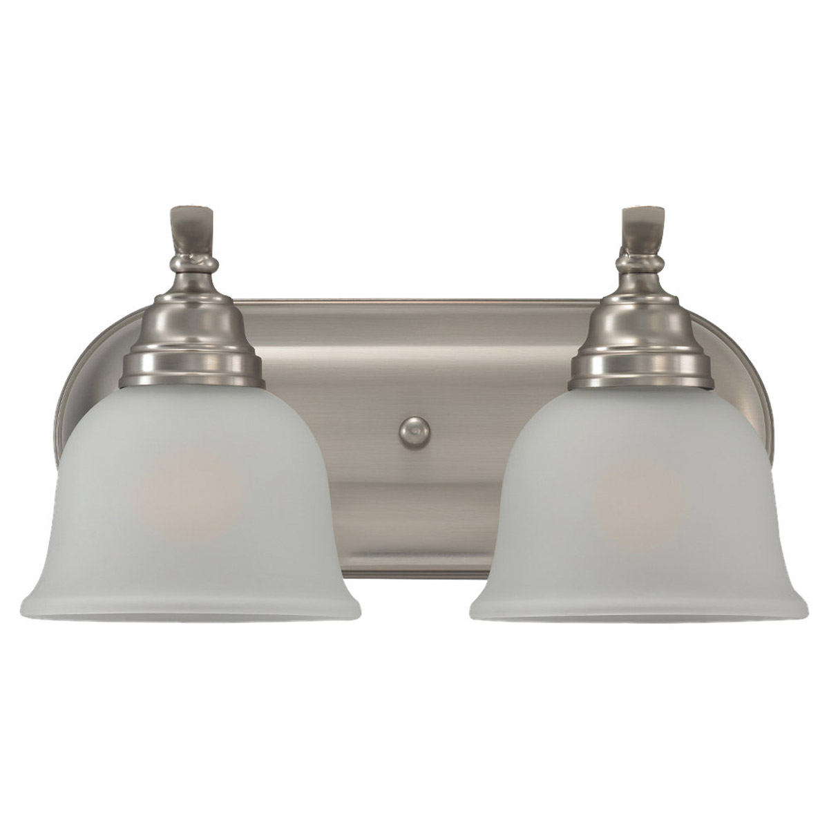 Sea Gull Lighting Wheaton 2 Light Bath Vanity in Brushed Nickel 44626BLE-962
