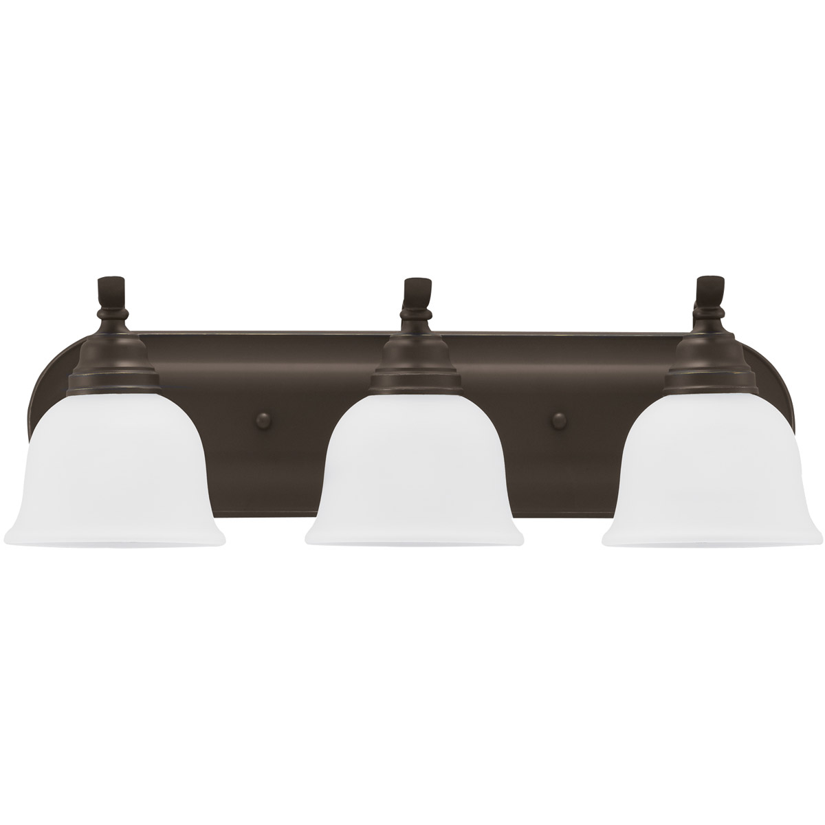 Sea Gull Lighting Wheaton 3 Light Bath Vanity in Heirloom Bronze 44627-782