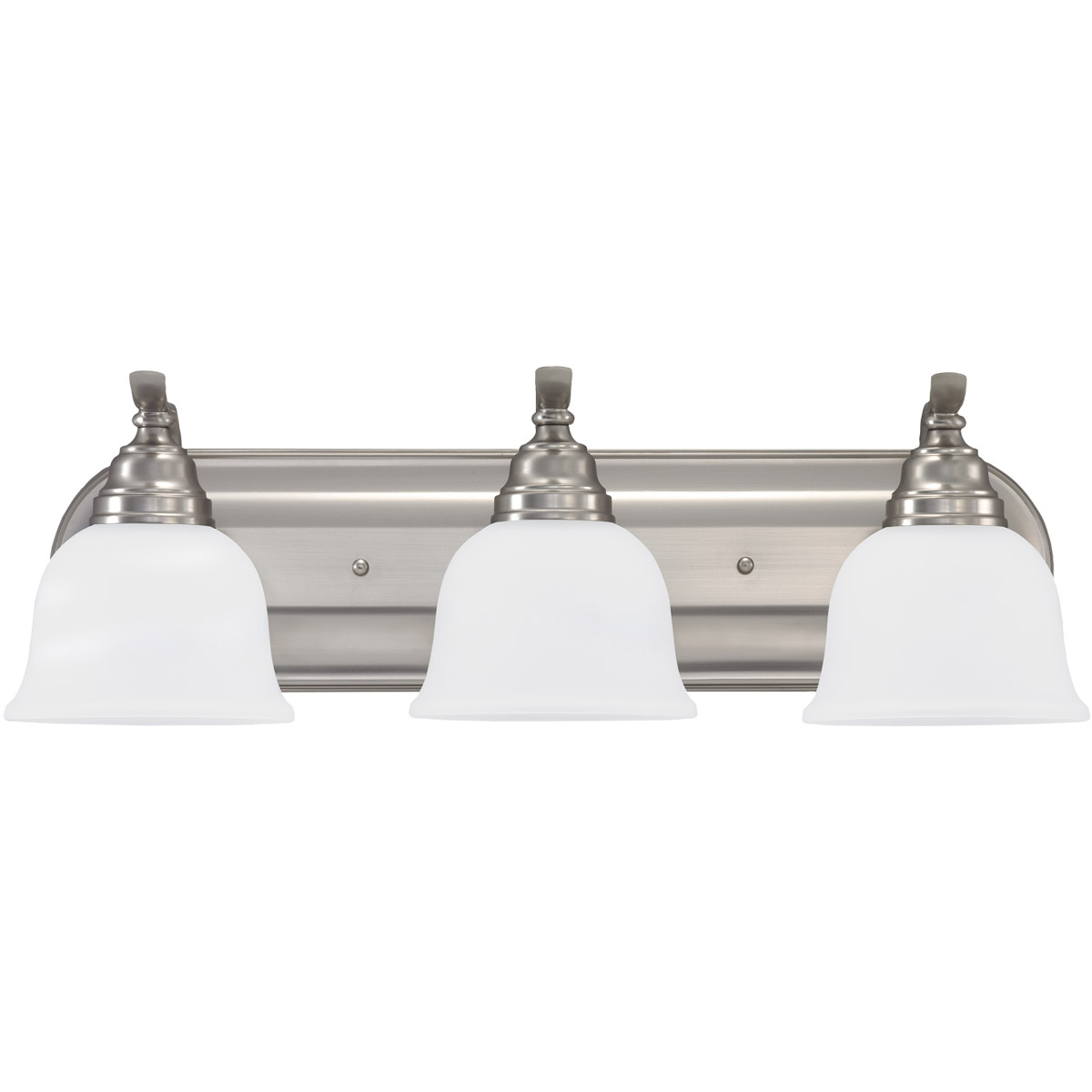 Sea Gull Lighting Wheaton 3 Light Bath Vanity in Brushed Nickel 44627-962