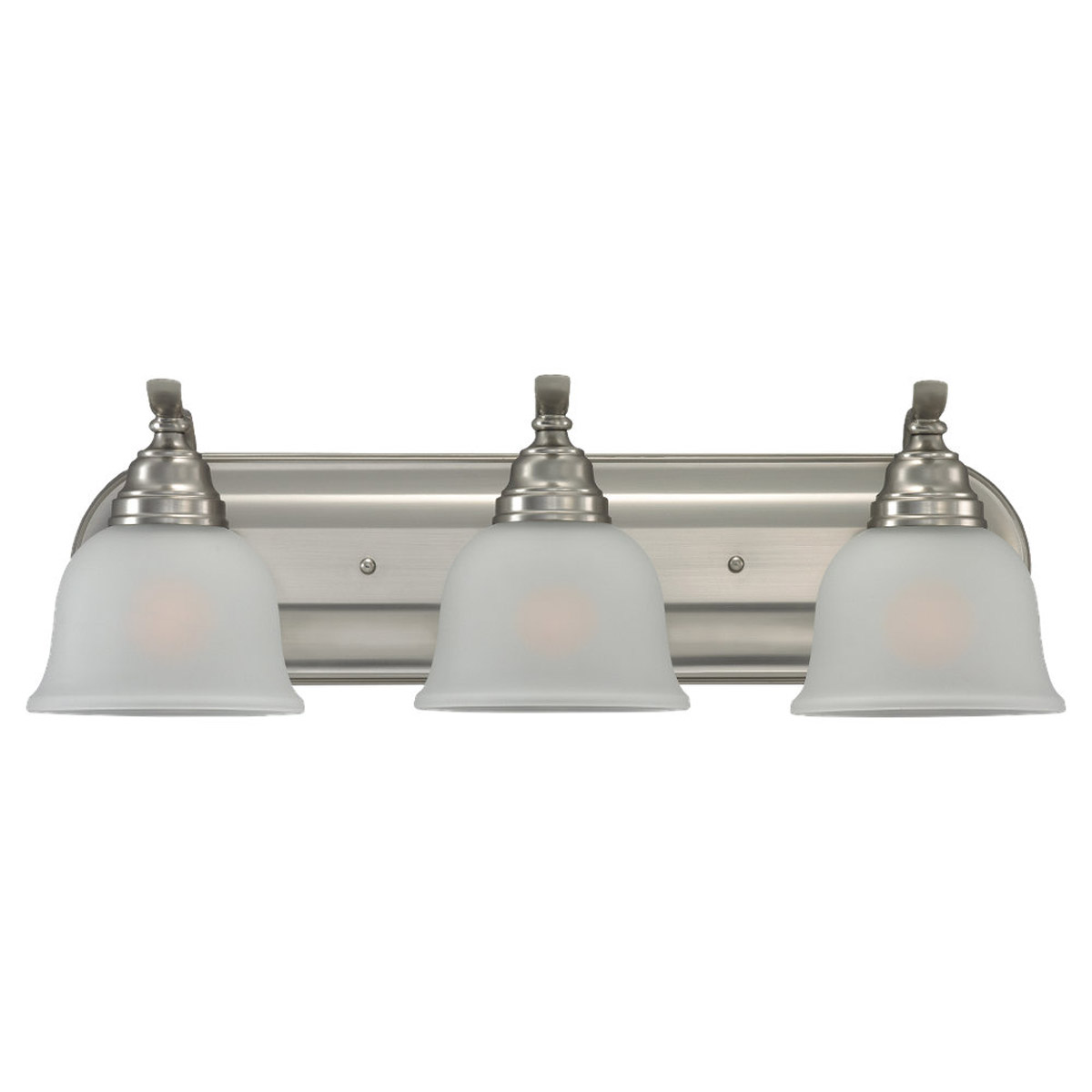 Sea Gull Lighting Wheaton 3 Light Bath Vanity in Brushed Nickel 44627BLE-962