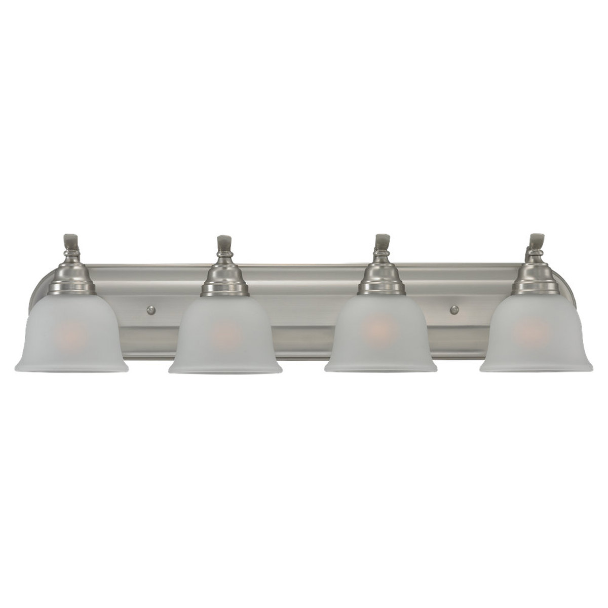 Sea Gull Lighting Wheaton 4 Light Bath Vanity in Brushed Nickel 44628BLE-962