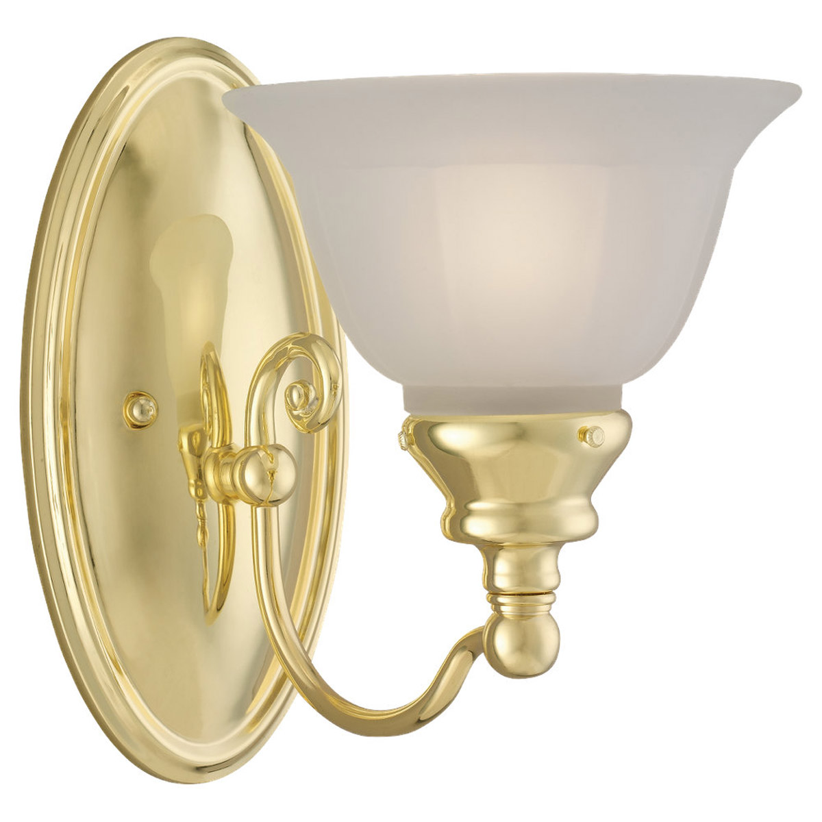 Sea Gull Lighting Canterbury 1 Light Bath Vanity in Polished Brass 44650-02