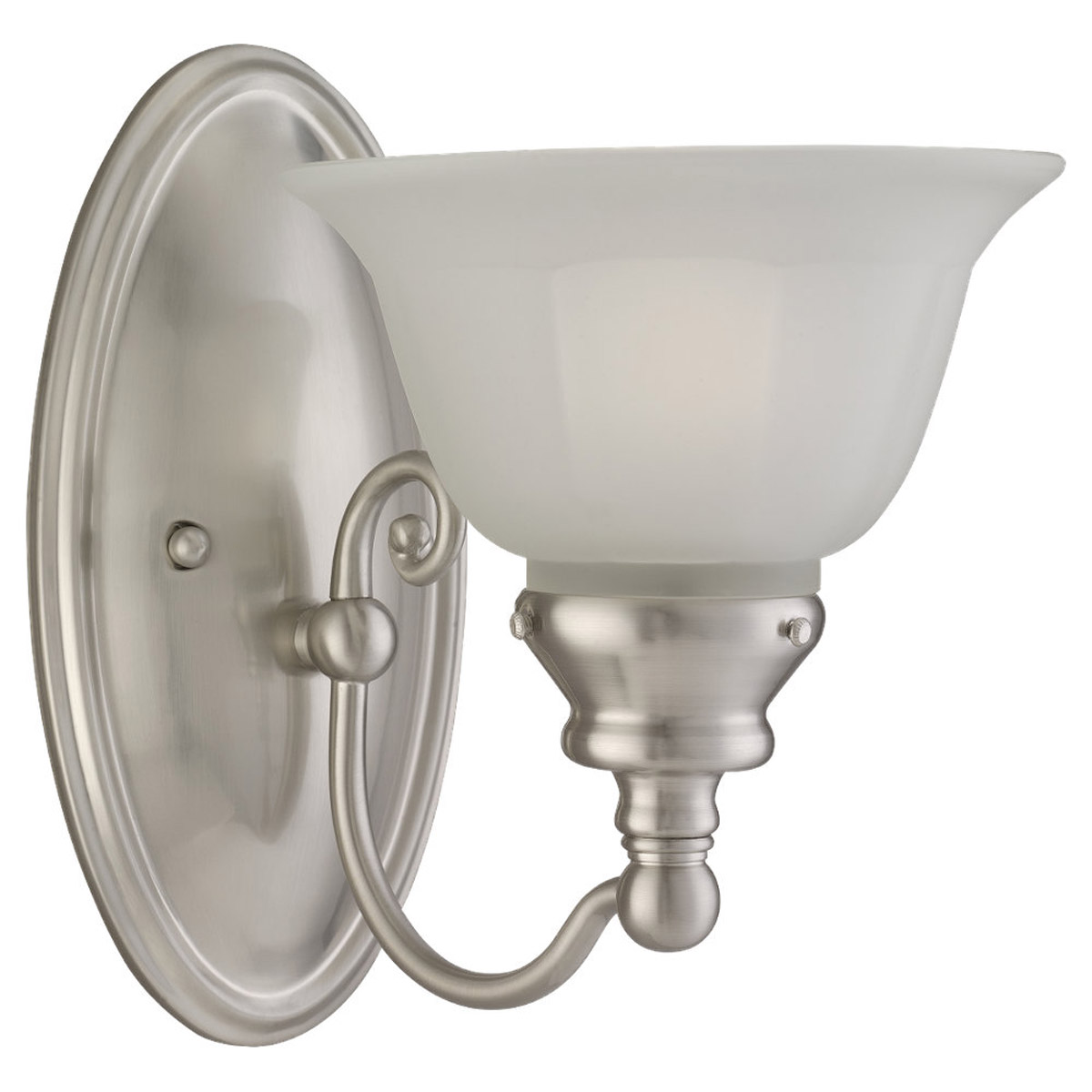 Sea Gull Lighting Canterbury 1 Light Bath Vanity in Brushed Nickel 44650-962 photo