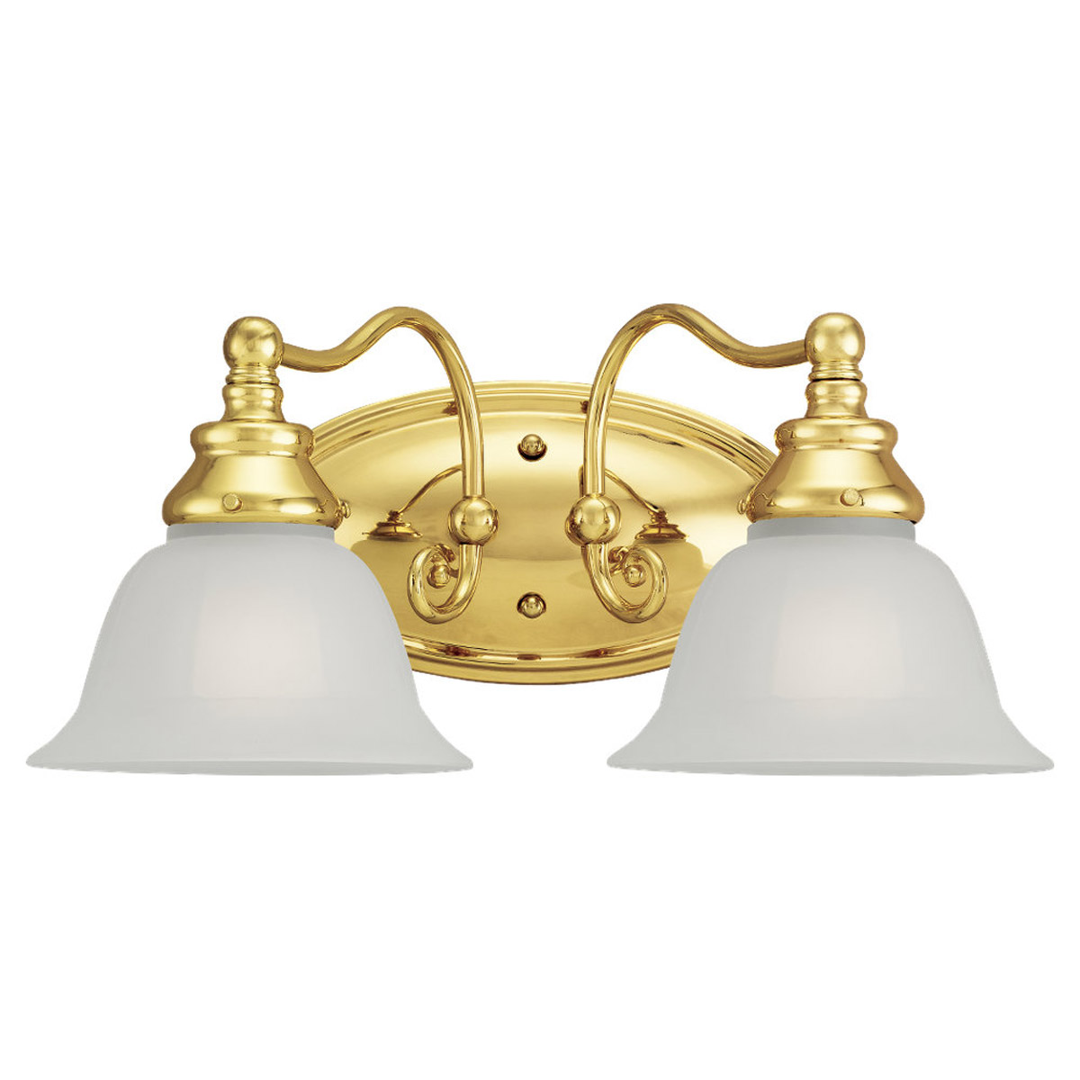 Sea Gull Lighting Canterbury 2 Light Bath Vanity In Polished Brass