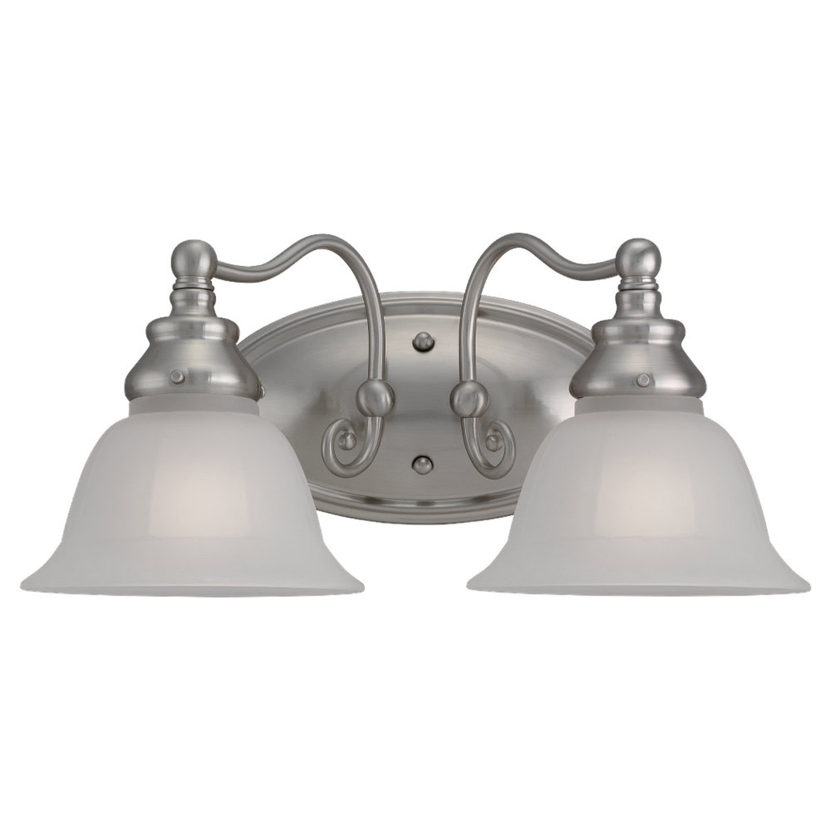 Sea Gull Lighting Canterbury 2 Light Bath Vanity in Brushed Nickel 44651-962