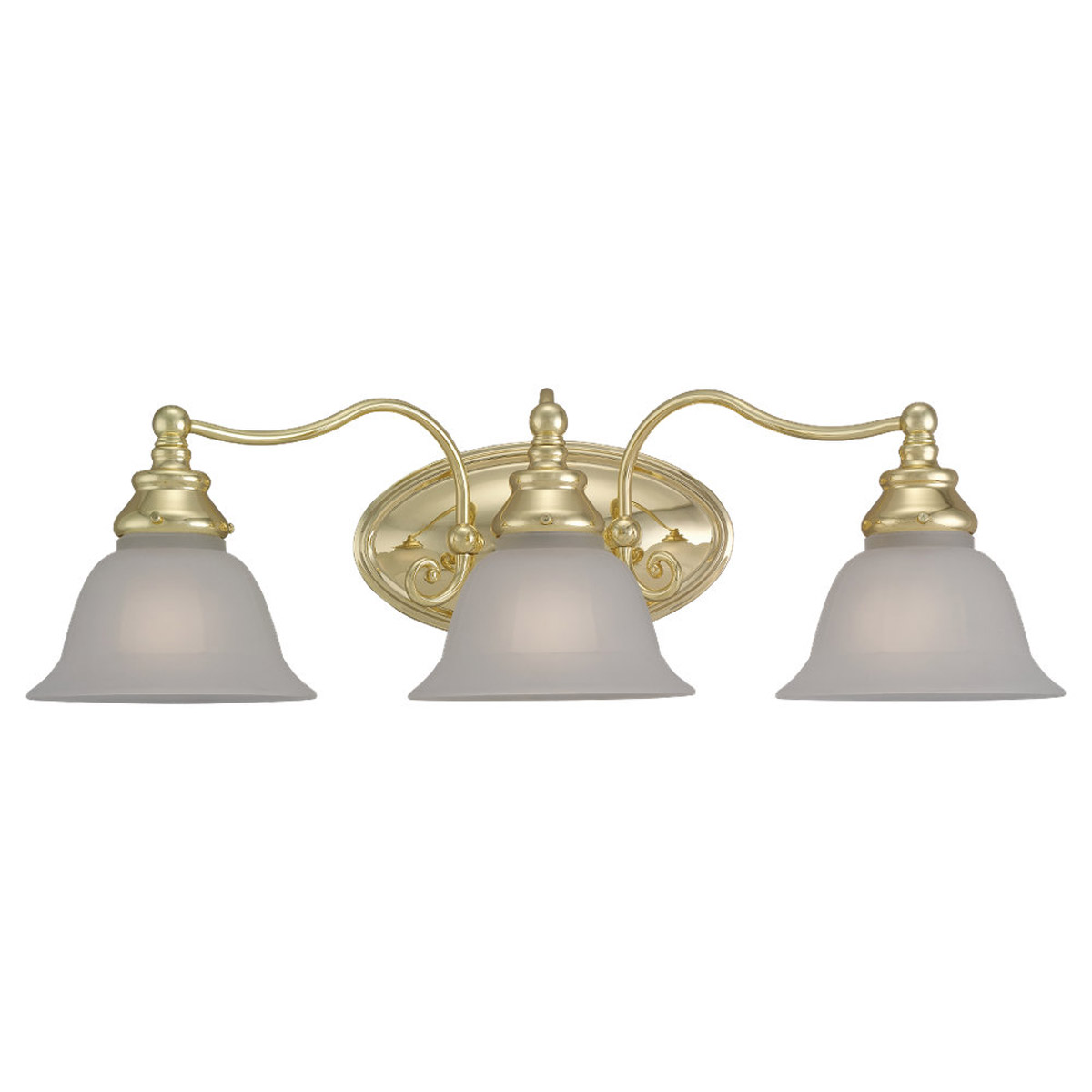 Sea Gull Lighting Canterbury 3 Light Bath Vanity in Polished Brass 44652-02