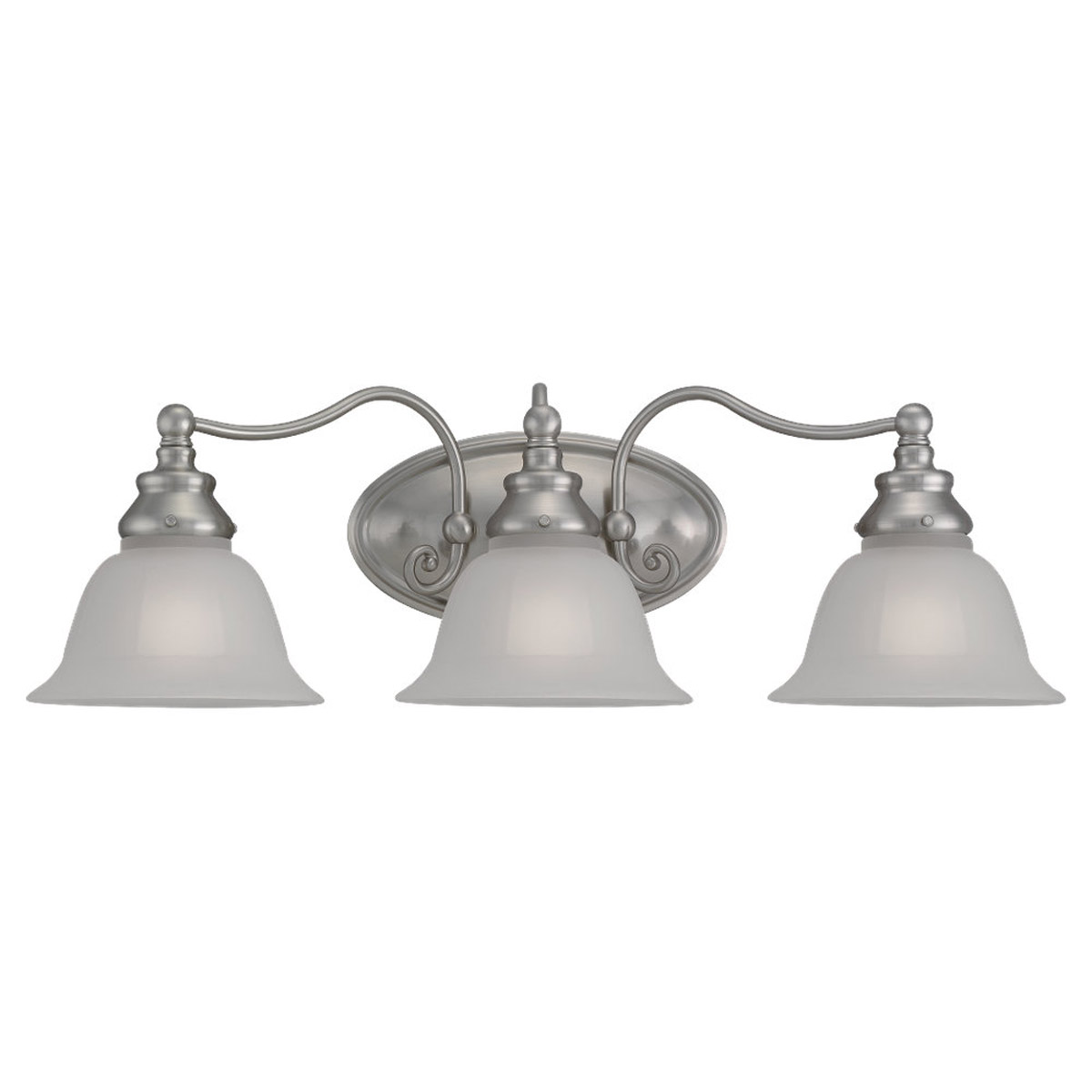 Sea Gull Lighting Canterbury 3 Light Bath Vanity in Brushed Nickel 44652-962
