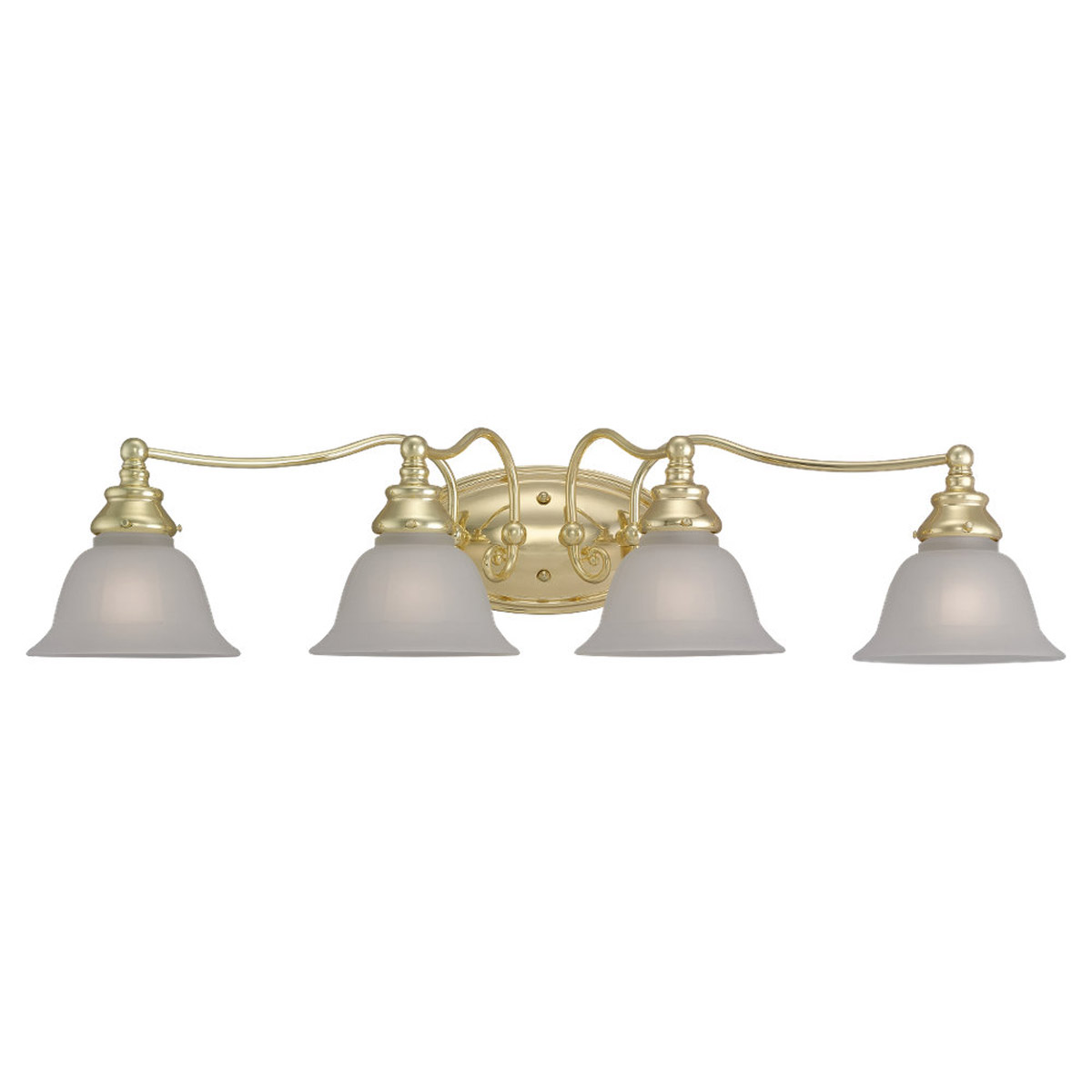Sea Gull Lighting Canterbury 4 Light Bath Vanity in Polished Brass 44653-02