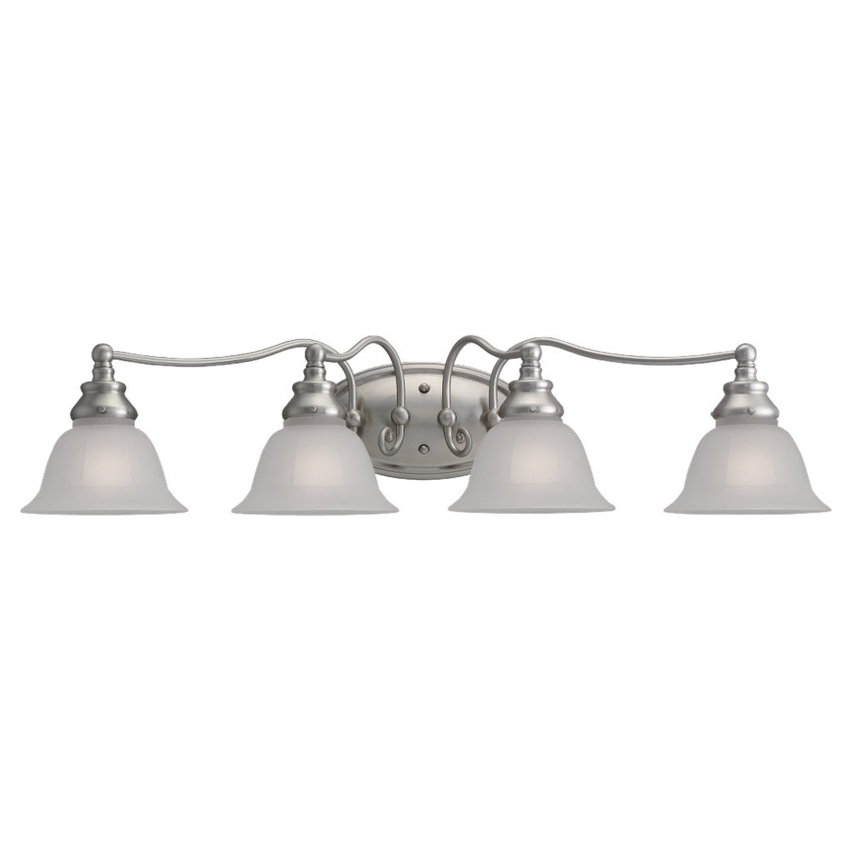 Sea Gull Lighting Canterbury 4 Light Bath Vanity in Brushed Nickel 44653-962