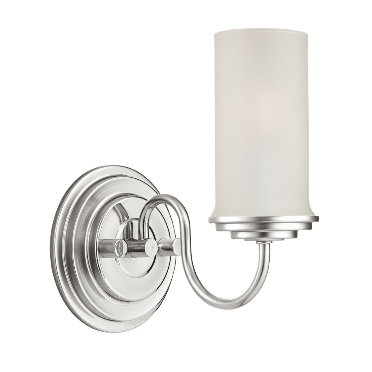 Sea Gull Lighting Wellington 1 Light Wall / Bath / Vanity in Polished Nickel 44655-841
