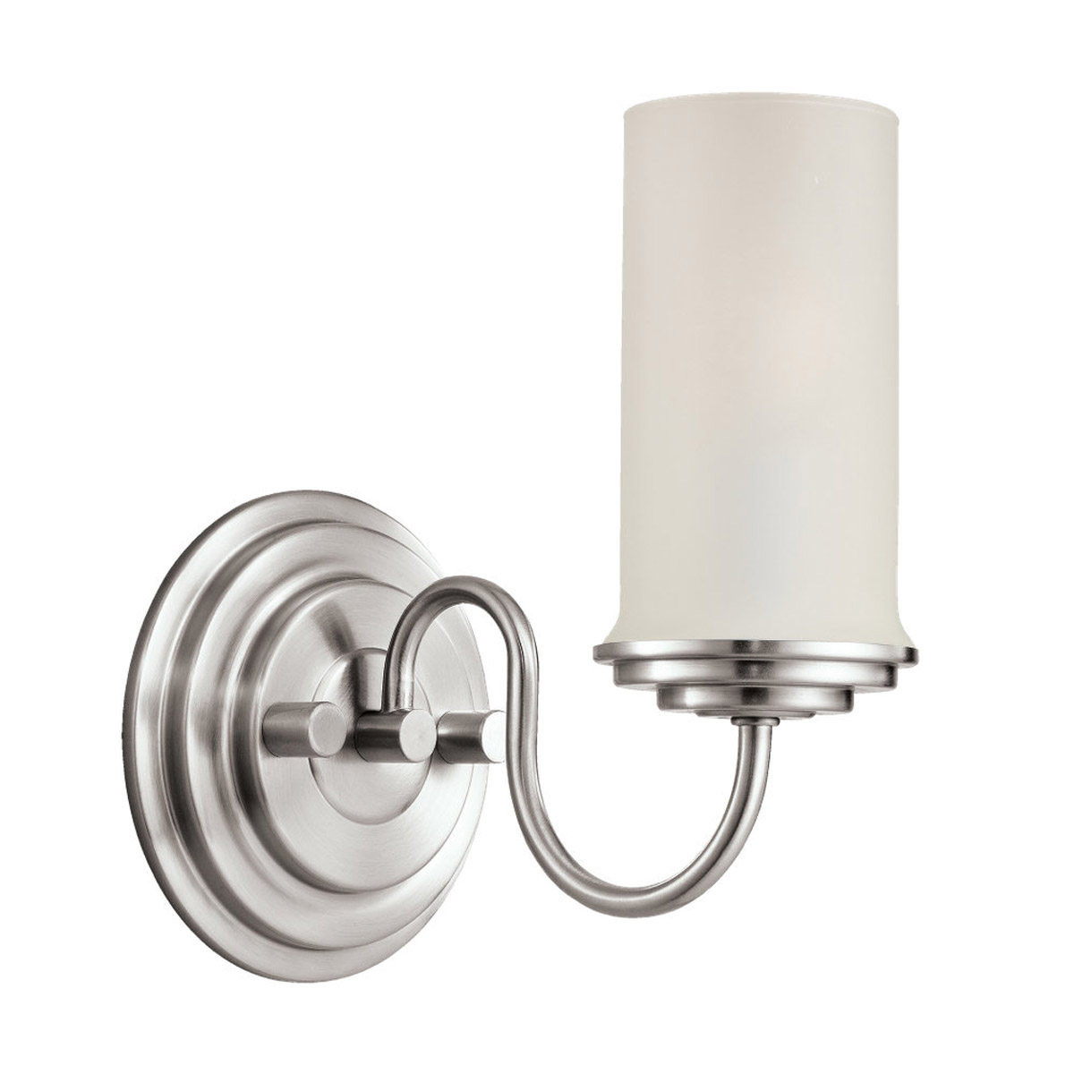 Sea Gull Lighting Wellington 1 Light Wall / Bath / Vanity in Brushed Nickel 44655-962