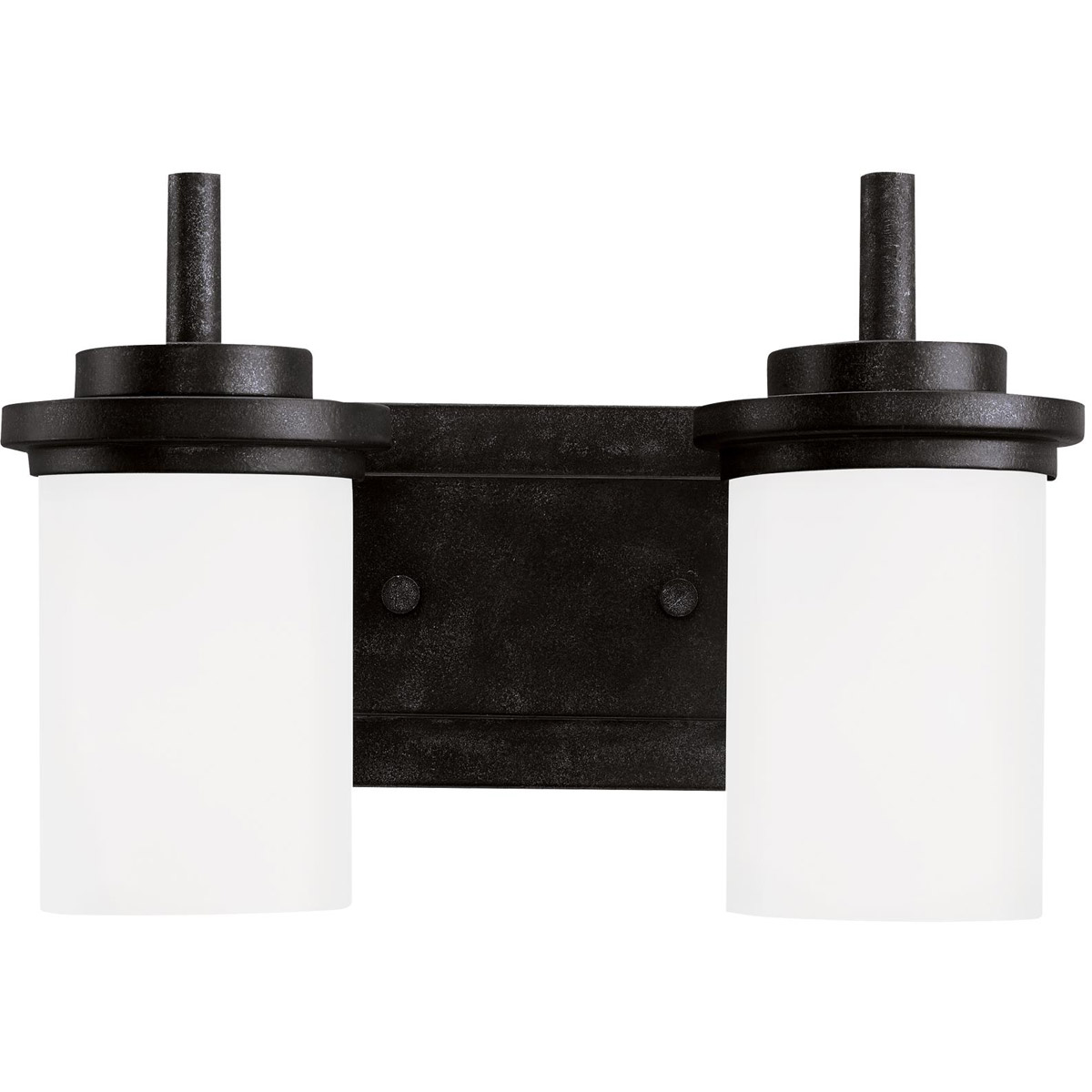 Sea Gull Lighting Winnetka 2 Light Bath Vanity in Blacksmith 44661-839