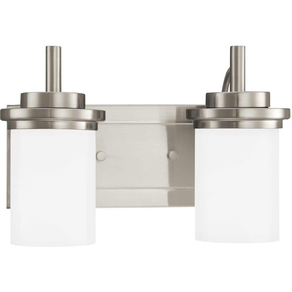 Sea Gull 44661-962 Winnetka 2 Light 14 inch Brushed Nickel Bath Vanity Wall Light in Satin Etched Glass, Standard photo