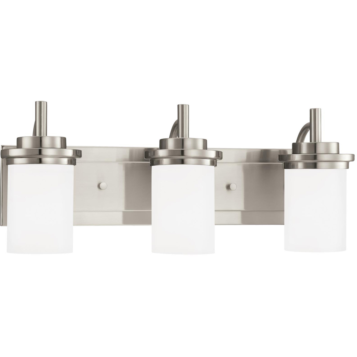 Sea Gull 44662-962 Winnetka 3 Light 23 inch Brushed Nickel Bath Vanity Wall Light in Satin Etched Glass, Standard photo