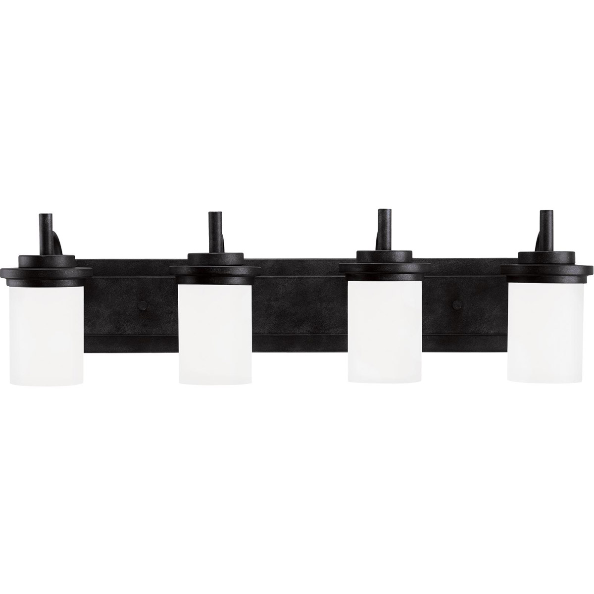 Sea Gull Lighting Winnetka 4 Light Bath Vanity in Blacksmith 44663-839 photo