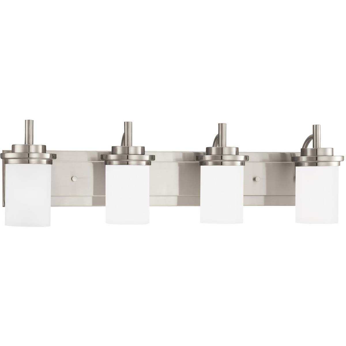 Sea Gull 44663BLE-962 Winnetka 4 Light 32 inch Brushed Nickel Bath Vanity Wall Light in Satin Etched Glass, Fluorescent photo