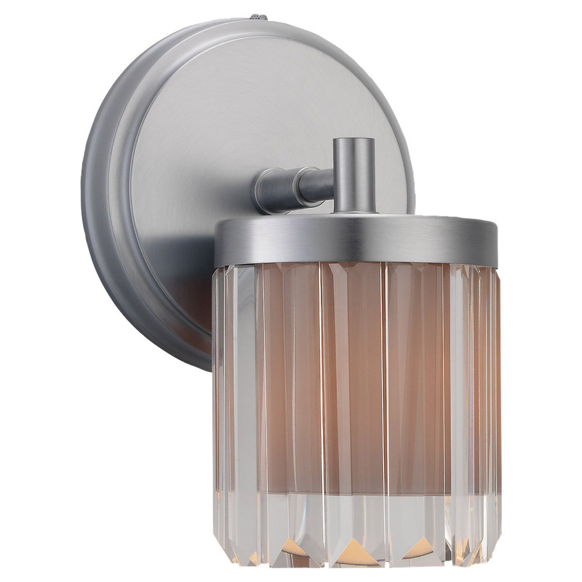 Sea Gull Lighting Nuit Noir Crystal 1 Light Wall / Bath / Vanity in Brushed Chrome 44690-863 photo