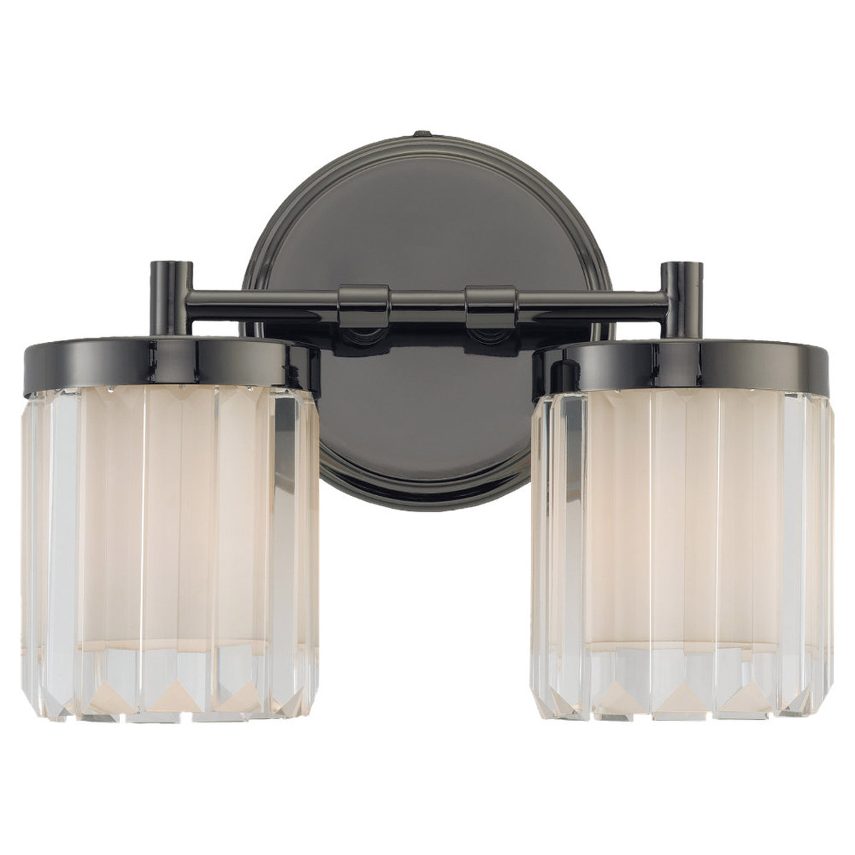 Sea Gull Lighting Nuit Noir Crystal 2 Light Wall / Bath / Vanity in Black Chrome 44691-765 photo