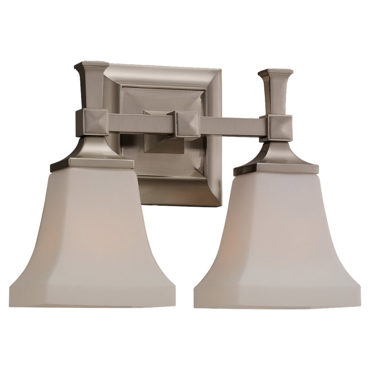 Sea Gull Lighting Melody 2 Light Bath Vanity in Brushed Nickel 44706-962