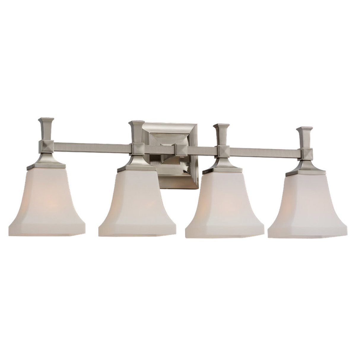 Sea Gull Lighting Melody 4 Light Bath Vanity in Brushed Nickel 44708-962
