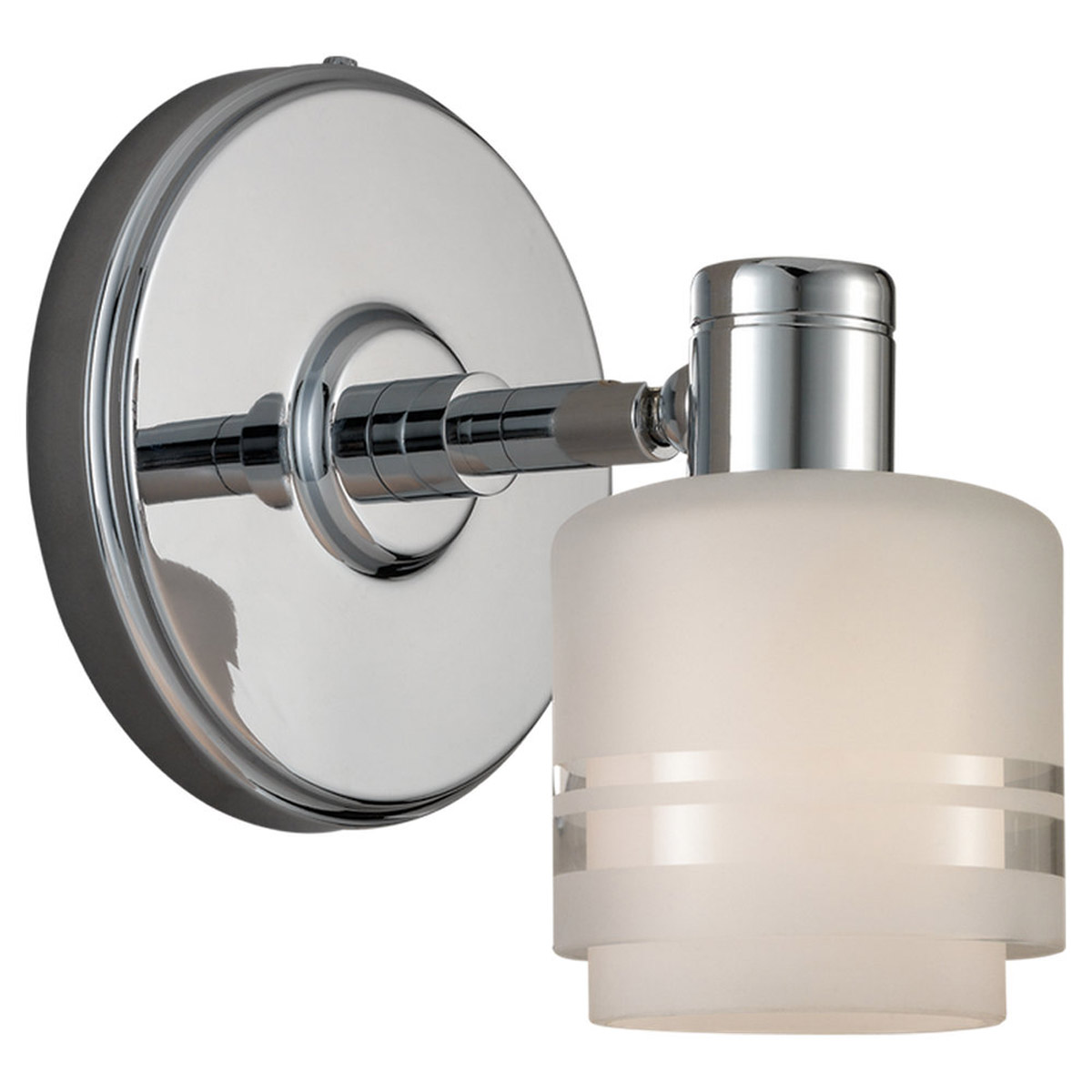 Sea Gull Lighting Groove 1 Light Wall / Bath / Vanity in Chrome 44730-05 photo